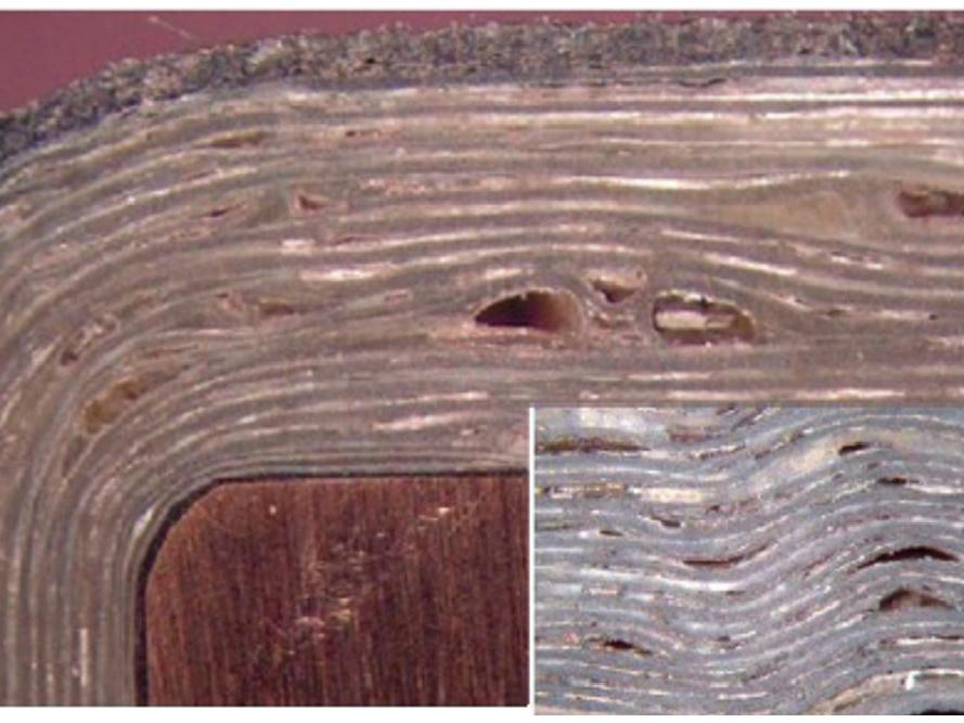 Figure 3. Voids in insulation